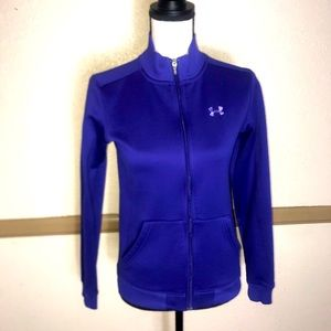 Under Armour Track Jacket NWOT Purple Sz Small